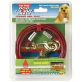 Four Paws Vinyl Coated Steel Cable Dog Tie Out - Medium Weight 15 ft.