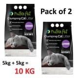 Nutrapet Lavender White Compact Cat Litter 5KG - (Pack of 2)