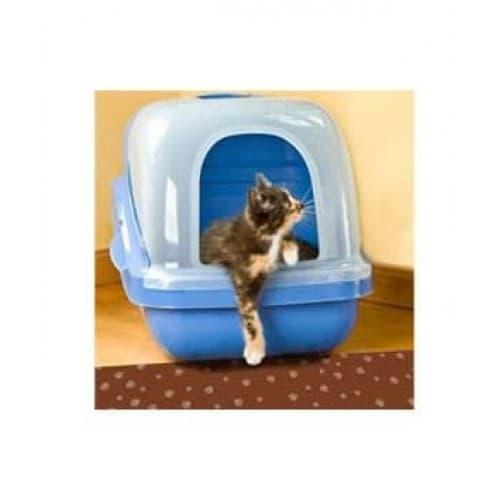 Dry Mate Brown Stripe Tan Paw Cat Litter Mat 28 X 36cm