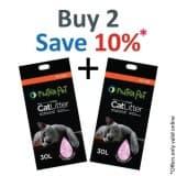 Nutrapet Cat Litter Silica Gel 30L 20KGS- Scented Orange-  PACK OF 2